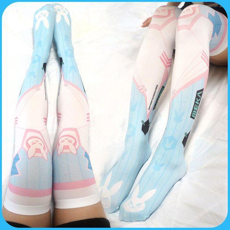 "Cartoon D.VA overwatch stockings SE10310      Coupon code ""cutekawaii"" for 10% off"