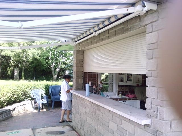 Roll Shutters And Awnings Both Work Great In Your Backyard . Wit Or Without  The Pool.