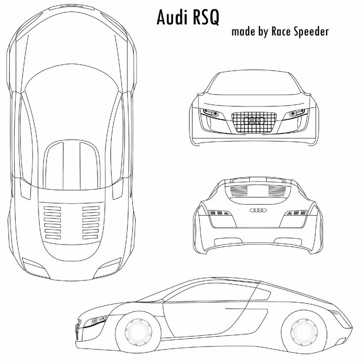53 best car blueprints images on pinterest blues specs and car sketch audi rsq malvernweather Gallery
