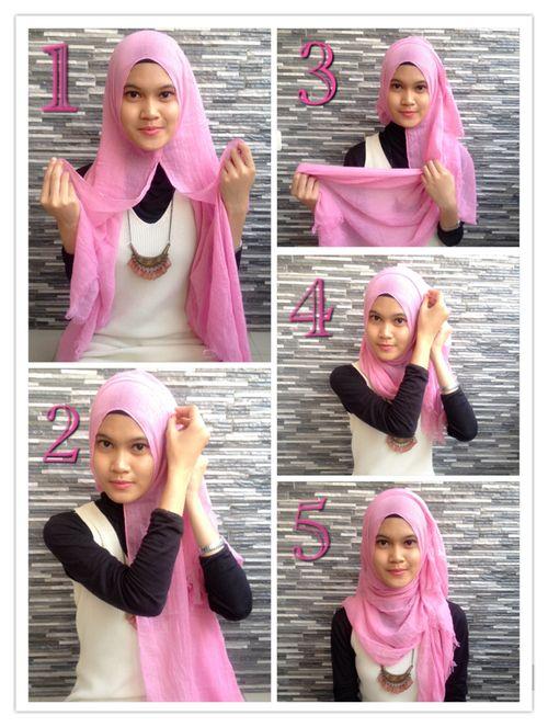 "<div class=""photoCaption"">Hijab Tutorial For Easy Hijab Styles! </div>"