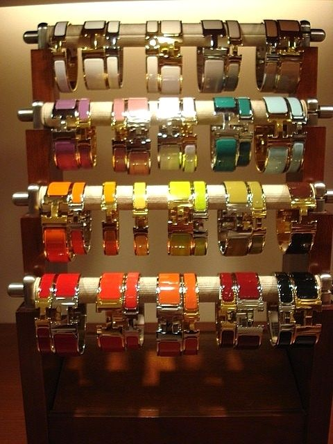 Hermes Clic Clac... Would love to have a few if they actually fit my small wrist and weren't almost $700 each!