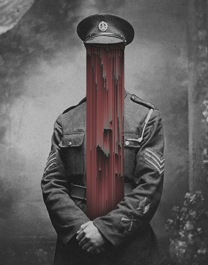 Giacomo Carmagnola is an artist from Treviso, Italy who creates creepy, glitches photo manipulations from vintage photos and classic art.