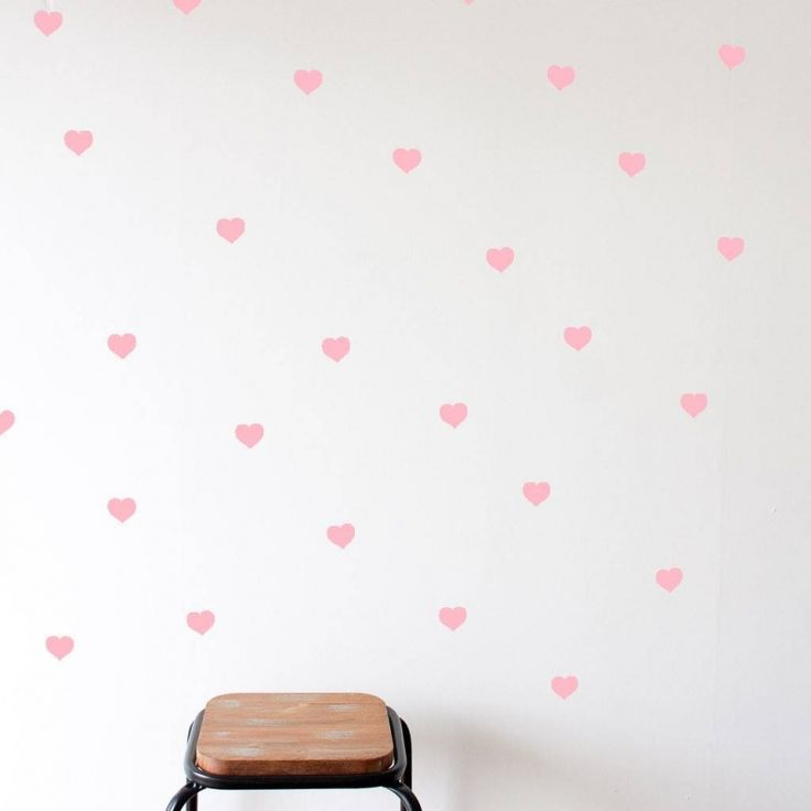 Muur sticker roze hartjes (56st.)