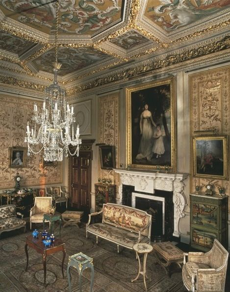 Houghton Hall. The White Drawing Room. Norfolk, England, UK.