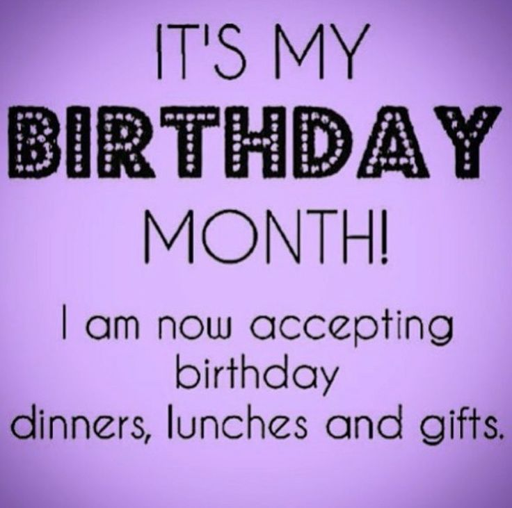 It's my Birthday month!!