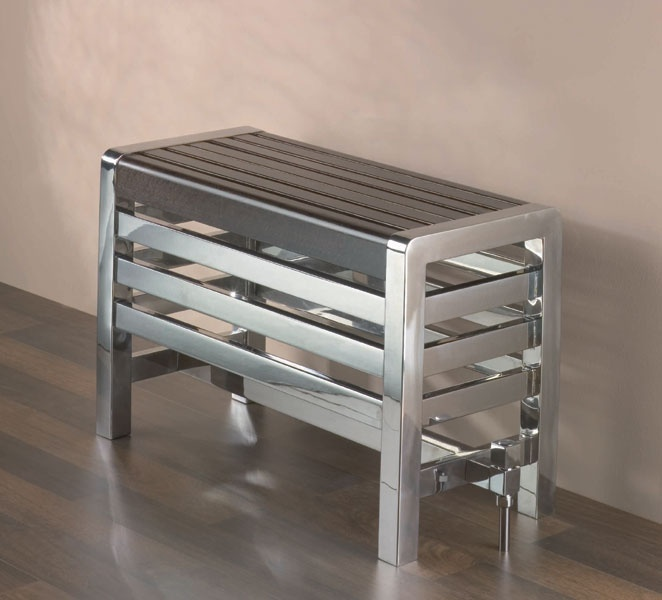 Oslo Bench Radiator   Stainless Steel With Wooden Top