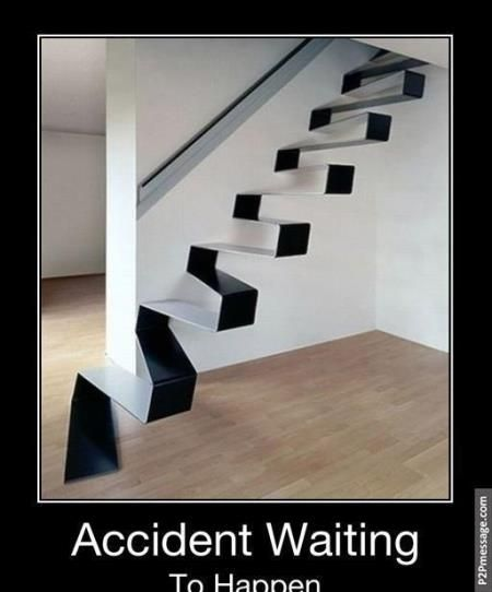 Weird stair. Click to see more and comment...