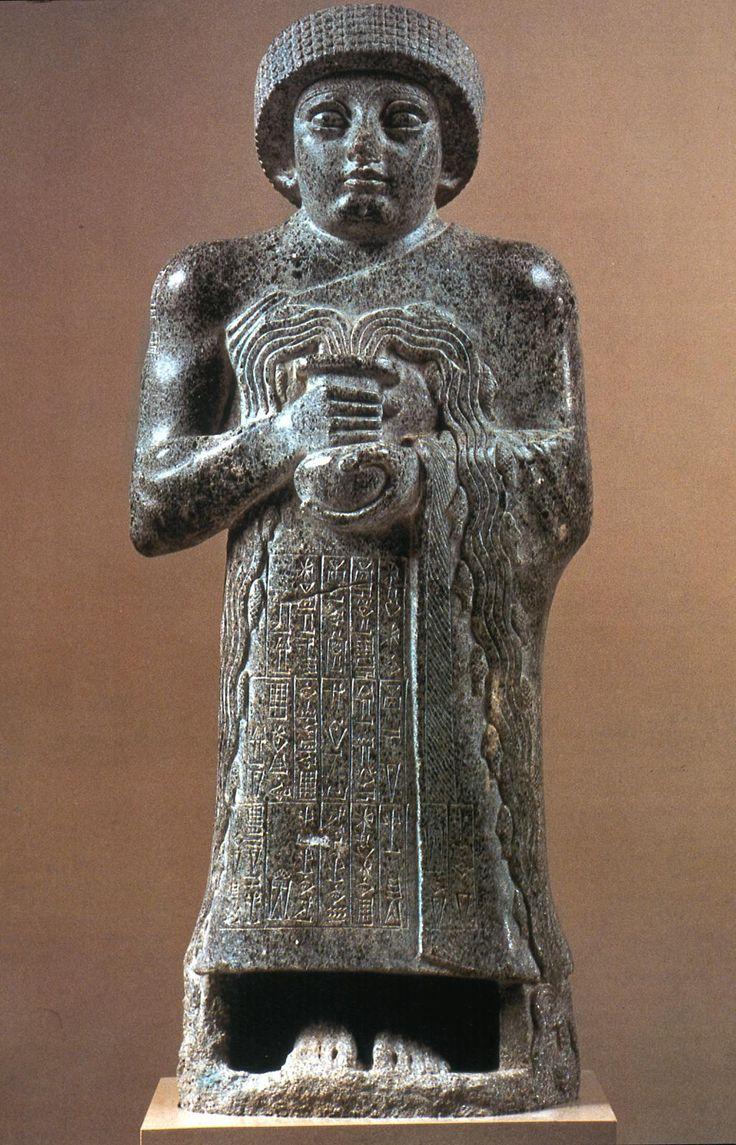 Votive Statue Of Gudea Girsu Present Day Telloh Iraq C