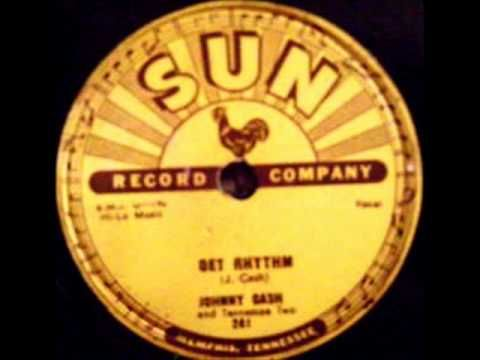 Johnny Cash - Get Rhythm, 1956 Sun 78 record.