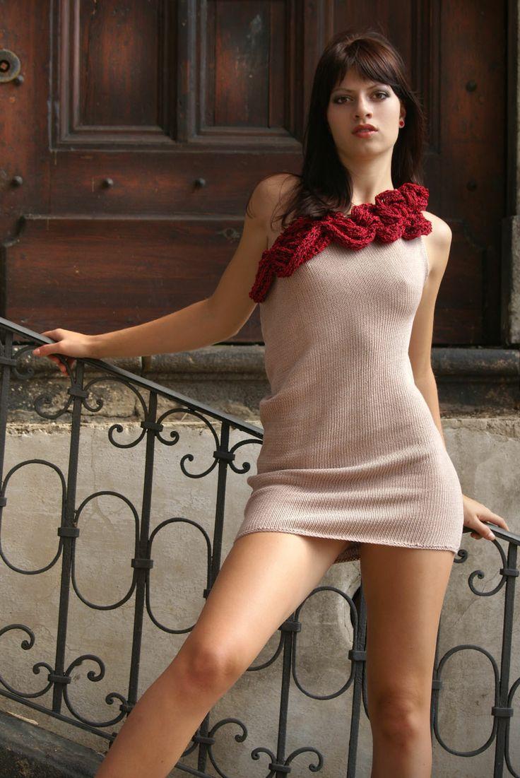 femme fatale... in knitted dress #femme #dress #knitted