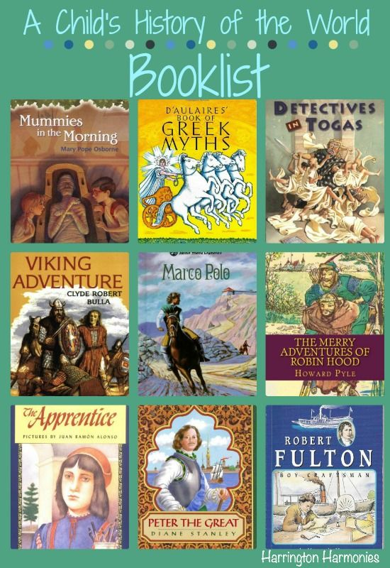 10 Time Periods for A Child's History of the World: Reading List