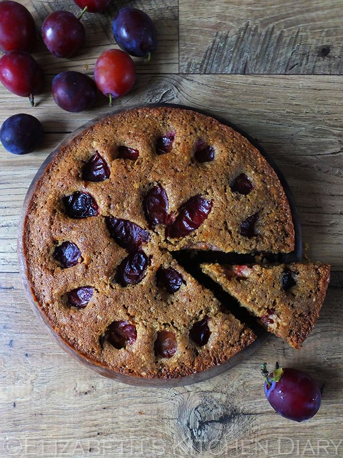 Hungarian Plum Cake - made with dark brown sugar, ground almonds and seasonal plums this is the perfect Autumn cake!