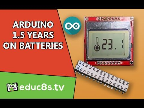 Arduino Project: Over one year on batteries Temperature monitor with DS18B20 Nokia 5110 - YouTube