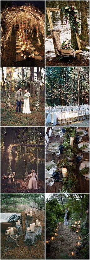 33 Enchanting Summer Woodland Wedding Ideas to Inspire