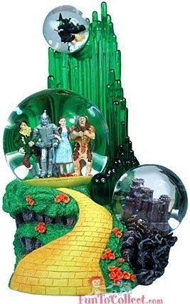 NEED this snow globe. Westland Giftware The Wizard of Oz 3-Globe Musical Water Globe Collectible by Westland Giftware, http://www.amazon.com/dp/B000IG7JDC/ref=cm_sw_r_pi_dp_L023pb1MZ4AJ1