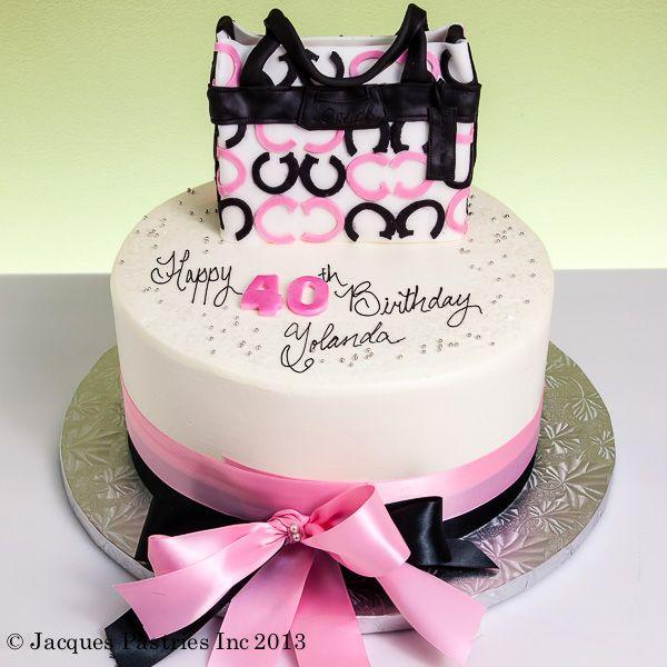 Mini Coach Purse Cake