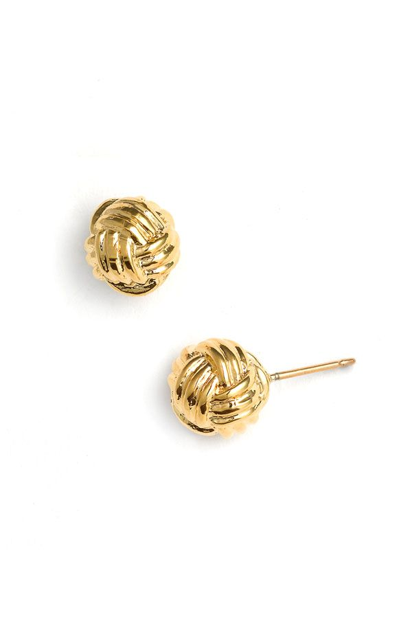 know the ropes stud earrings / kate spade