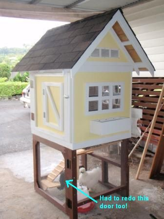 Cool Chicken coop design - easy to make!
