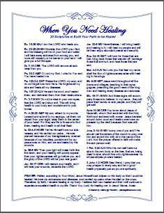 20 Healing Scriptures & Prayer alishagratehouse.com