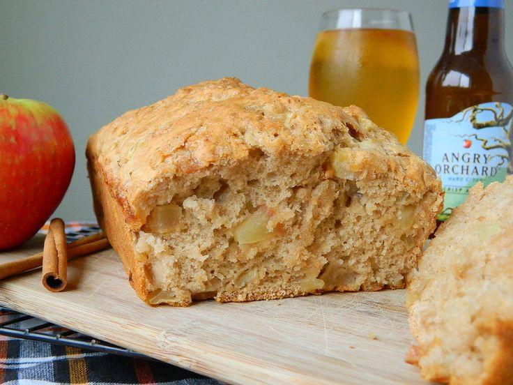 Breakfast Beer Bread. This is great with apples and peaches so far, and some slivered almonds thrown in. Cut into ten slices it's roughly 250 calories and is very filling.