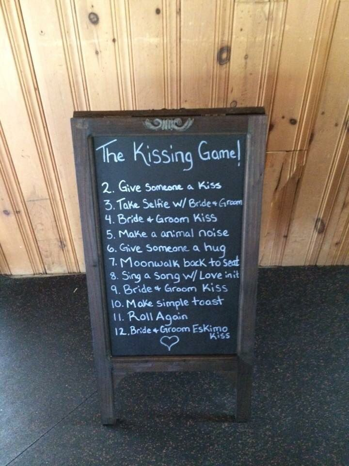 Kissing game with dice