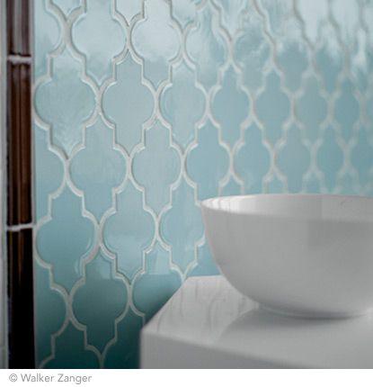 Vibe Ashbury Modaic In Powder Blue Walker Zanger Tile Arabesque