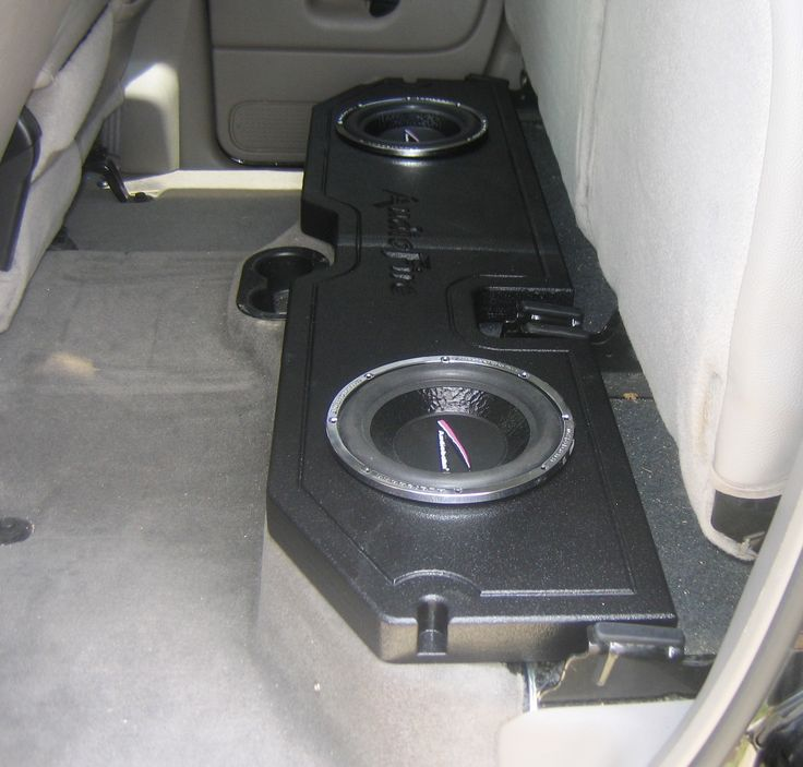 I want this speaker box for the back seat. Only a single sub though. After that...I am all done with my truck.