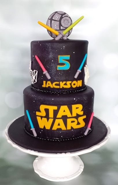Custom Cakes by Lori: A Star Wars cake for a five year old
