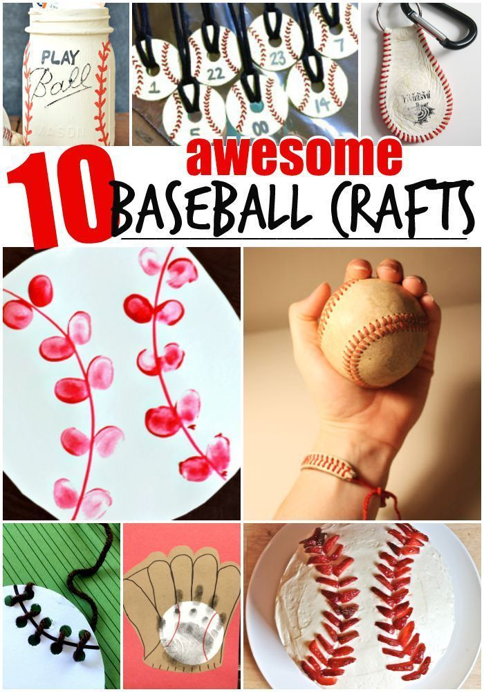 10 Baseball Crafts for Kids - your little baseball fans will love these! #sp