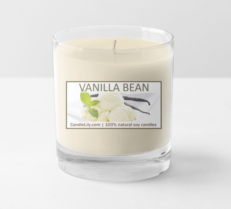 Vanilla bean candle, large 13 oz 100% soy wax all natural slow burn