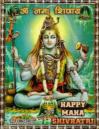 Om Namah Shivay Happy Maha Shivratri  (via PICdesi.com)