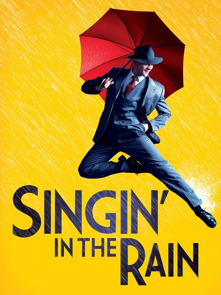 SINGING IN THE RAIN Poster * London Musical Classic Vintage A4 PICTURE PRINT
