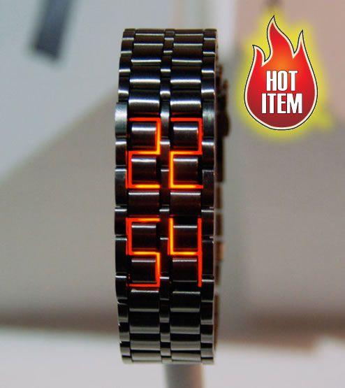 Samurai Inferno Red Hot WatchMen Clothing, Menfashion, Wrist Watches, Faceless Watches, Iron Man, Men Fashion, Design, Stainless Steel, Men Watches