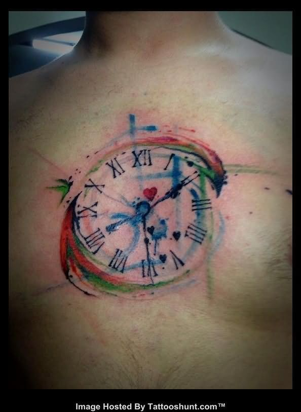 Cooltop Watercolor Tattoo Colorful Abstact Tattoos Abstract Water Color Tattoo On Man Chest Watercolour Tattoo Men Tattoos For Guys Abstract Tattoo