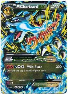 Pokemon X & Y Flashfire Ultra Rare Holo Mega Charizard-EX #69