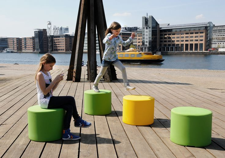 HOP OP 500 by out-sider   playful multifunctional element: it's a seat, a bollard, a place to jump from... or? You decide! Rotation moulded polyethylene, UV resistant, and available in 12 colors.