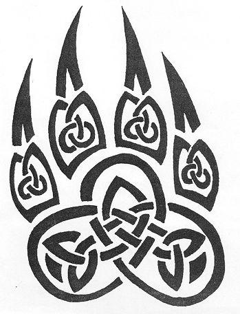 celtic wolf paw  Tatuaje garra con dibujos celtas
