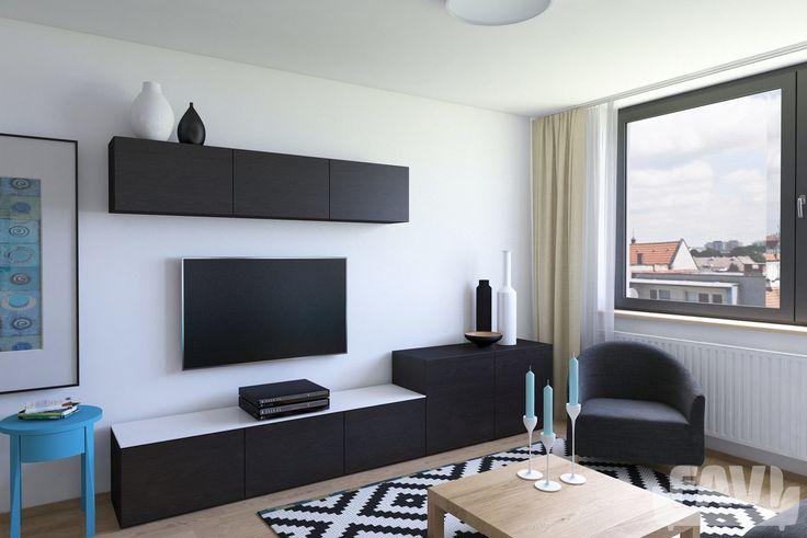 Moderní obývací pokoje inspirace - Byty Liščie údolie - Favi.cz