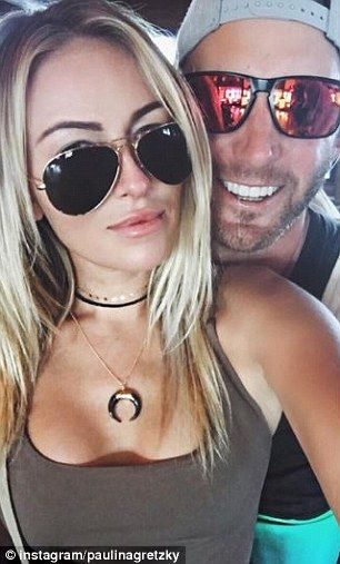 Dustin Johnson with Paulina Gretzky