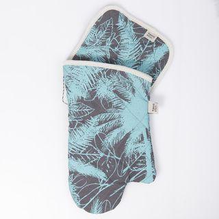 Set de agarradera y manopla Traful palmeras acua