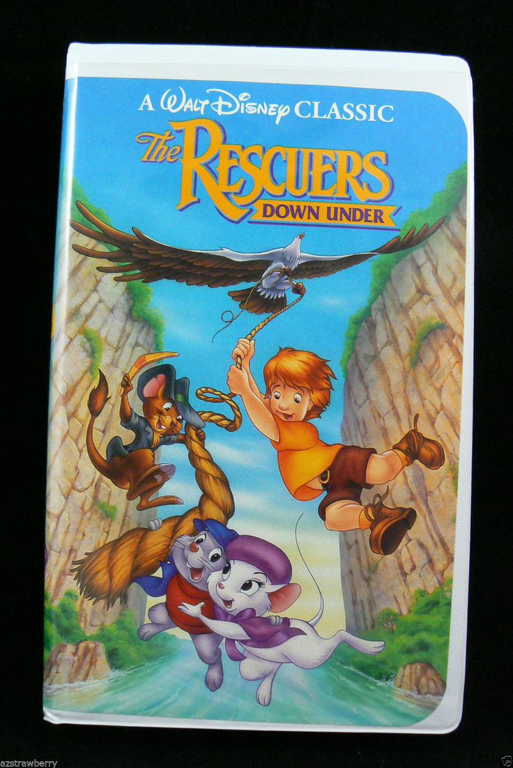 Walt Disney Classic The Rescuers Down Under Vhs Video Tape