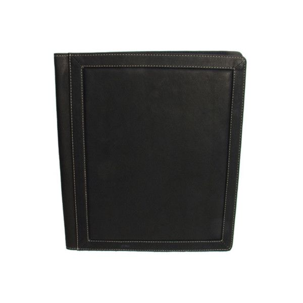 Piel Leather 3 Ring Binder Folder 2568 (£94) ❤ liked on Polyvore featuring home, home decor, office accessories, brown, piel leather and brown folder