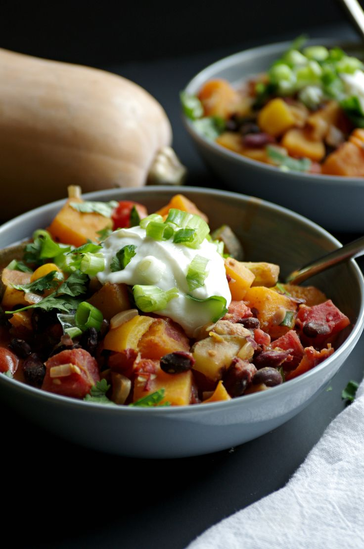 Vegetarian Chipotle Chili with Butternut Squash — coffee & crayons