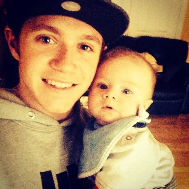 """From Niall Horan's Instagram 11/11/2013: """"Last time i seen this little man he was 4 weeks old! He is the best baby ever"""" #niallhoran #onedirection"""