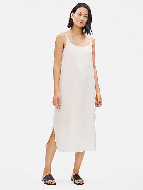 98d8889277eb Sandwashed Tencel Slip Dress | EILEEN FISHER | *dresses in 2019 ...