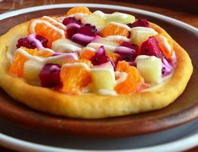 Resep Sarapan Pizza Buah-buahan.