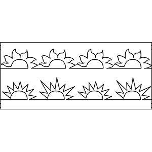 67 best long arm templates images on pinterest appliques hearts hqt10 115a suns mid arm quilting template quilt ez pronofoot35fo Images