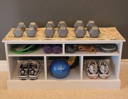 home gym storage solution