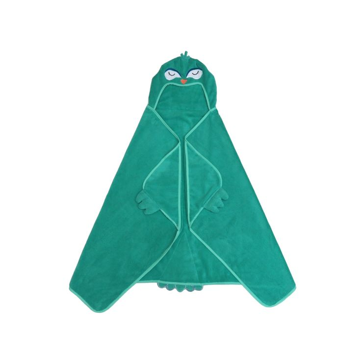 Peacock Hooded Bath Towel Green - Pillowfort, Tropical Green