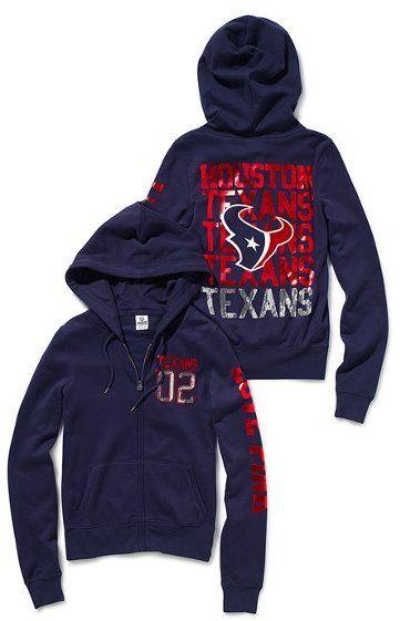 Victoria's Secret Pink® Houston Texans Bling Zip Hoodie... I Love this jacket! Wear it all football season!! @Veronica